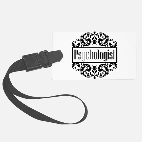 Psychologist damask Luggage Tag