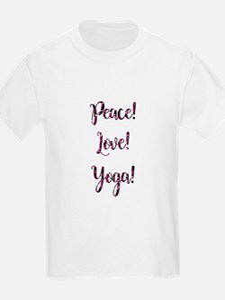 PEACE, LOVE, YOGA! T-Shirt