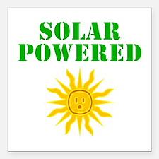 "Solar Powered Square Car Magnet 3"" x 3"""