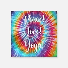 PEACE, LOVE, YOGA! Sticker
