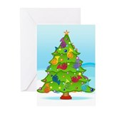 French horn christmas Greeting Cards (10 Pack)