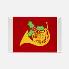Christmas French Horn Music Magnets