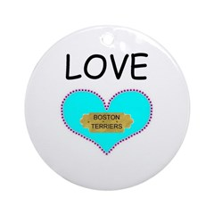 LOVE BOSTON TERRIERS Keepsake (Round)