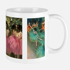 Dancers in Pink and Green by Edgar Degas Mugs