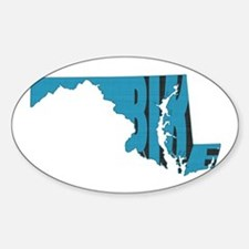 Bike Maryland Sticker (Oval)