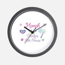 Hannah - Grandpa's Little Pri Wall Clock