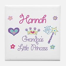Hannah - Grandpa's Little Pri Tile Coaster