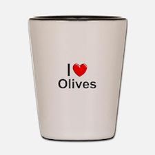 Olives Shot Glass
