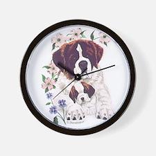 Saint Bernards Wall Clock