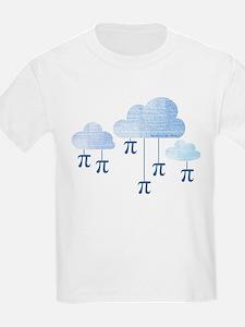 Pi in the Sky Clouds Blue T-Shirt