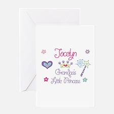 Jocelyn - Grandpa's Little Pr Greeting Card