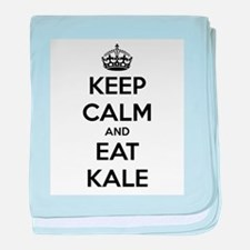 KEEP CALM AND EAT KALE baby blanket