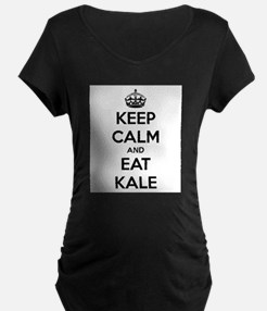 KEEP CALM AND EAT KALE Maternity T-Shirt