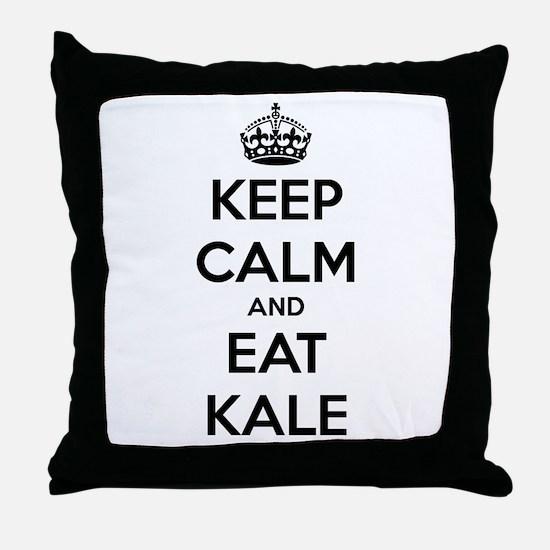 KEEP CALM AND EAT KALE Throw Pillow