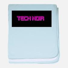 Tech Noir Purple baby blanket