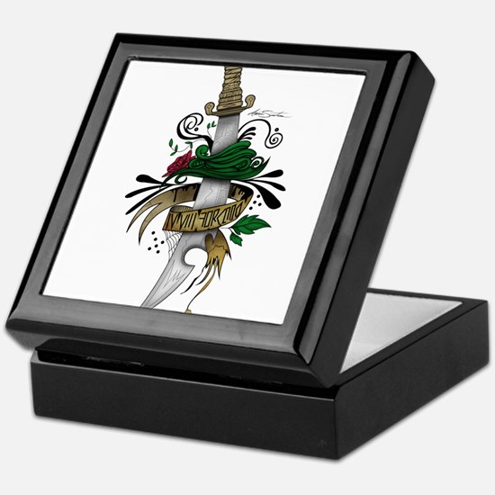 Unique Tattoo flowers Keepsake Box