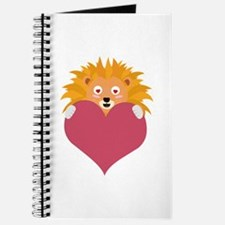 Romantic Lion with heart Journal