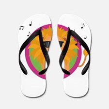Singing music lion Flip Flops