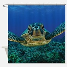 Turtle Swimming Shower Curtain