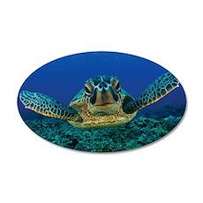 Turtle Swimming Wall Sticker