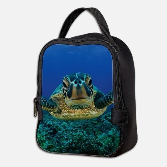 Turtle Swimming Neoprene Lunch Bag
