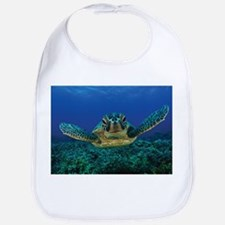 Turtle Swimming Baby Bib