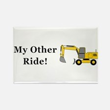 Hoe My Other Ride Rectangle Magnet