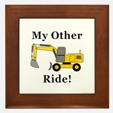 Hoe My Other Ride Framed Tile