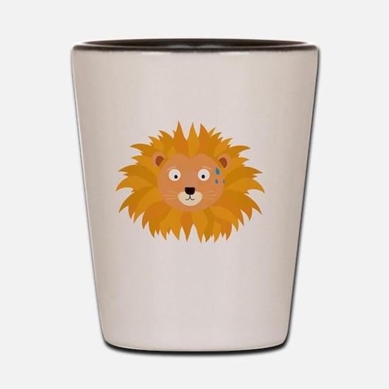 Sweating lion head Shot Glass