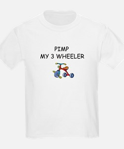 PIMP MY 3 WHEELER Kids T-Shirt ,smile face on back