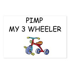 PIMP MY 3 WHEELER Postcards (Package of 8)