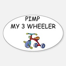 PIMP MY 3 WHEELER Oval Decal