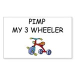 PIMP MY 3 WHEELER Rectangle Sticker