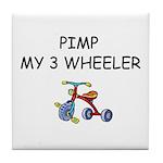 PIMP MY 3 WHEELER Tile Coaster