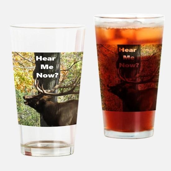 Elk Bellowing Drinking Glass