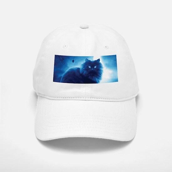 Black Cat In The Night Baseball Baseball Cap