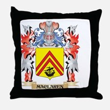 Maclaren Coat of Arms - Family Crest Throw Pillow