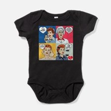 I Love Lucy Valentine's Day Collage Baby Bodysuit