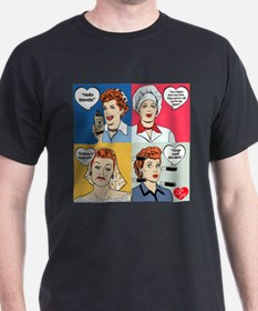I Love Lucy Valentine's Day Collage T-Shirt
