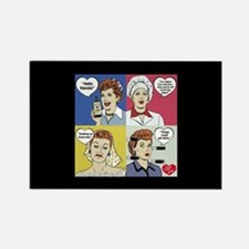 I Love Lucy Valentine's Day Colla Rectangle Magnet