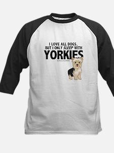 I Sleep with Yorkies Baseball Jersey