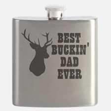 Best buckin Dad Ever Flask