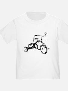 Retro Black Tricycle T-Shirt