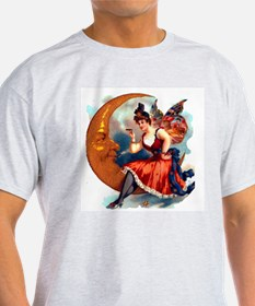 Butterfly Lady on Moon T-Shirt