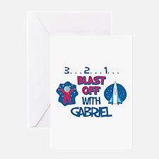 Blast Off with Gabriel Greeting Card