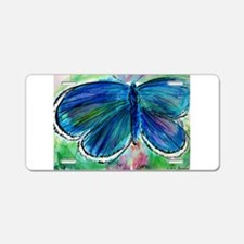 Blue Butterfly! Nature art! Aluminum License Plate