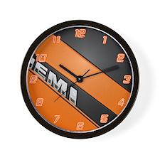 ORANGE HEMI  Wall Clock