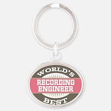 recording engineer Oval Keychain