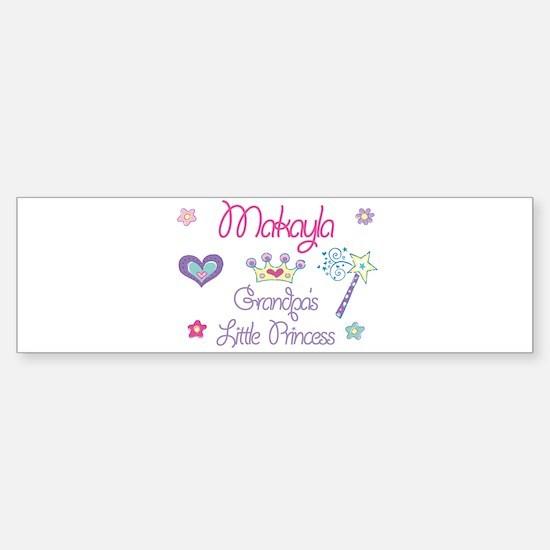 Makayla - Grandpa's Little Pr Bumper Car Car Sticker
