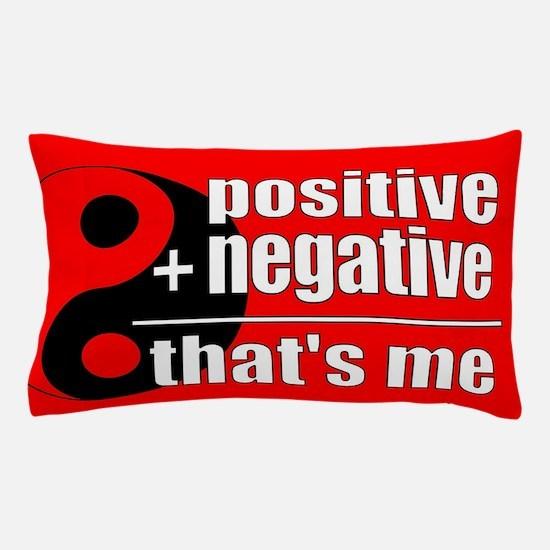 Red Positive + Negative Pillow Case